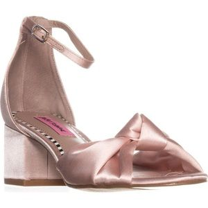 Betsey Johnson Ivee Blush Satin Block Heel